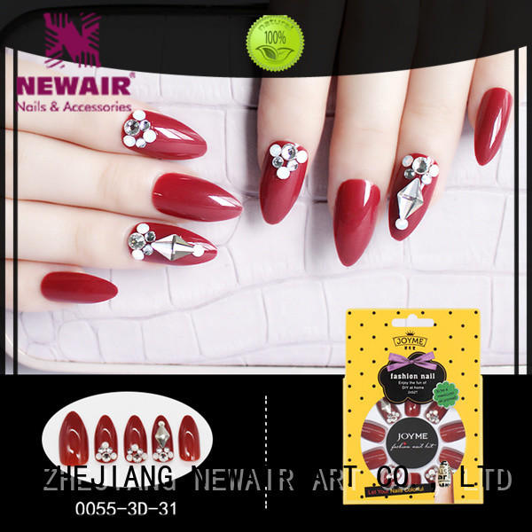 Newair Fake Nails grey false nails with glue factory price for girls