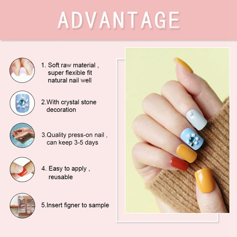 Newair Fake Nails artificial press on nails amazon directly sale for lady-3