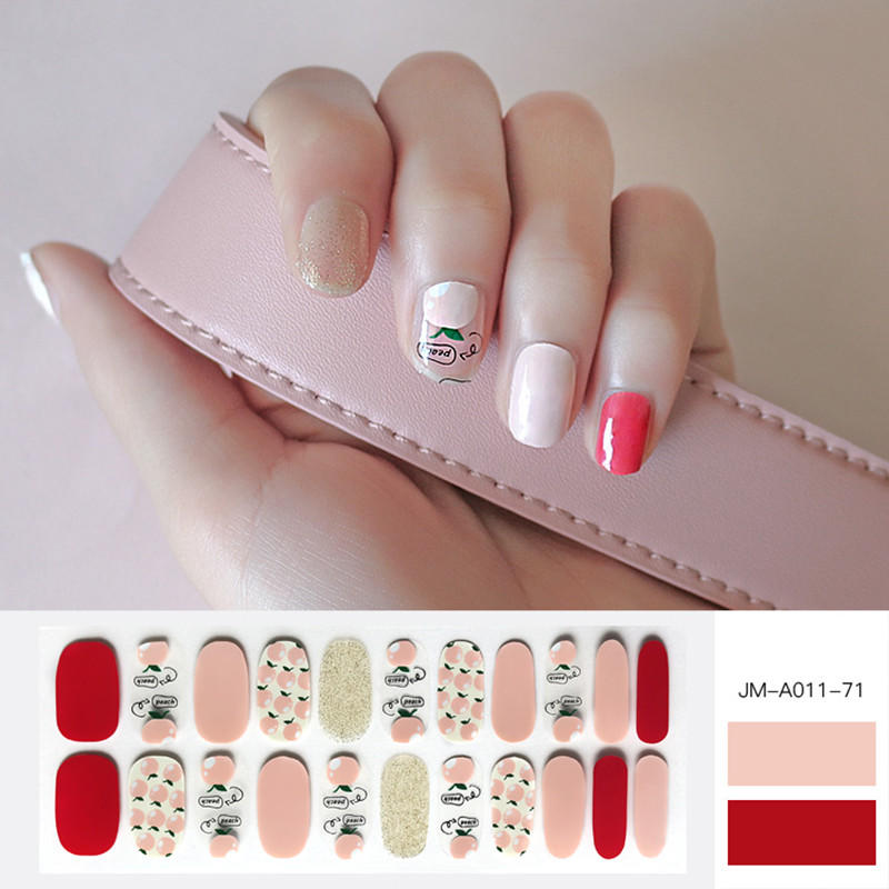 Newair Fake Nails yellow gold stripe nails supplier for women-1