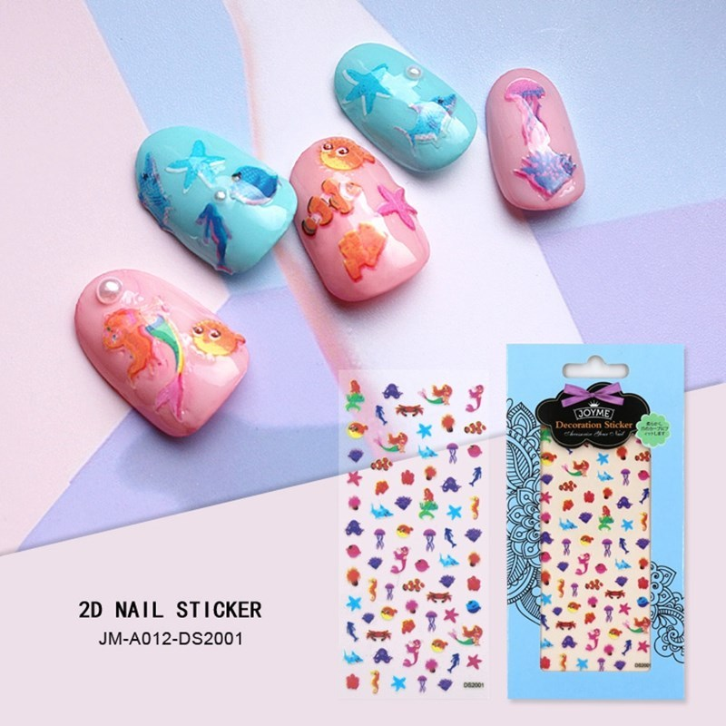 adhesive nail art stickers for ladies