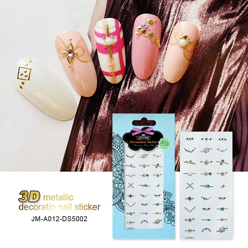 3D metallic decoration nail sticker
