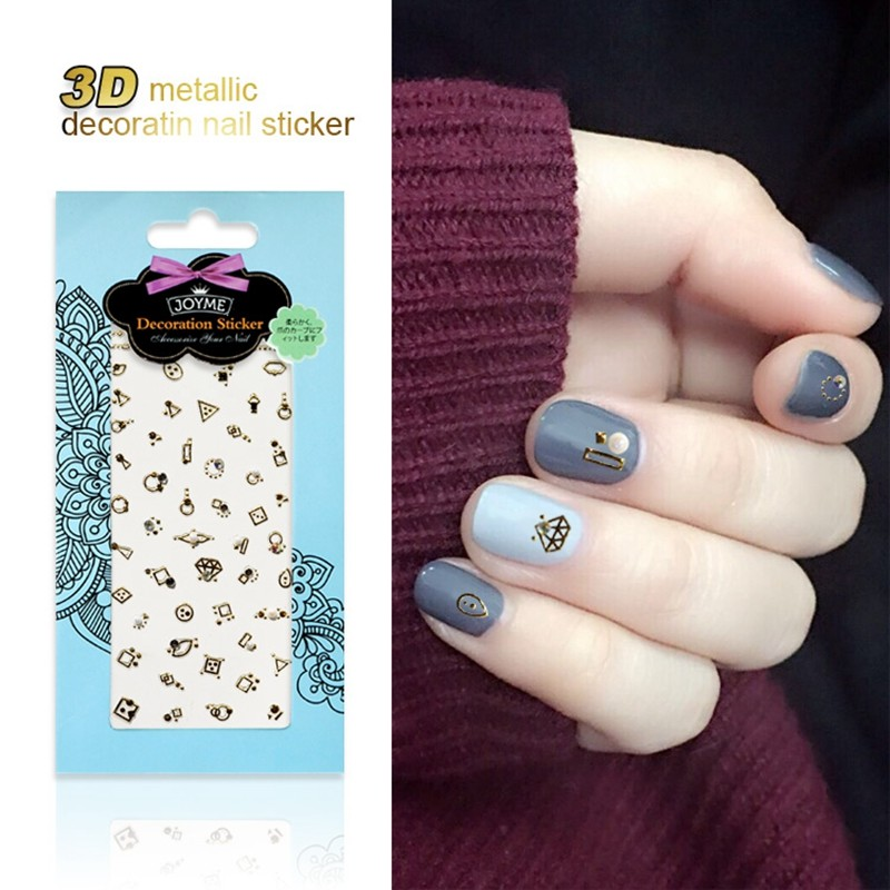 Fashion Diamond Metallic Decoration Nail Sticker