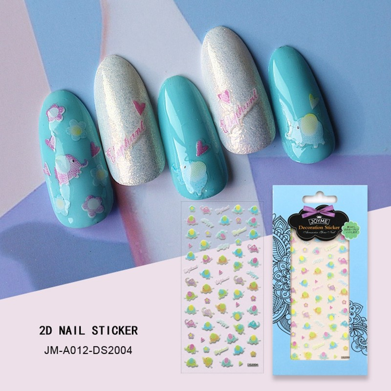 Happy elephant nail sticker
