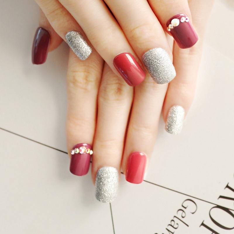 Newair Fake Nails gel press on nails manufacturer for bride-4