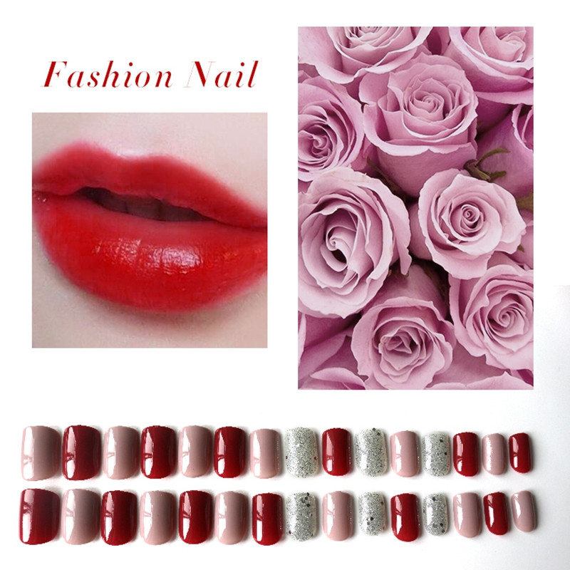 Newair Fake Nails artificial nails kit customized for lady-4