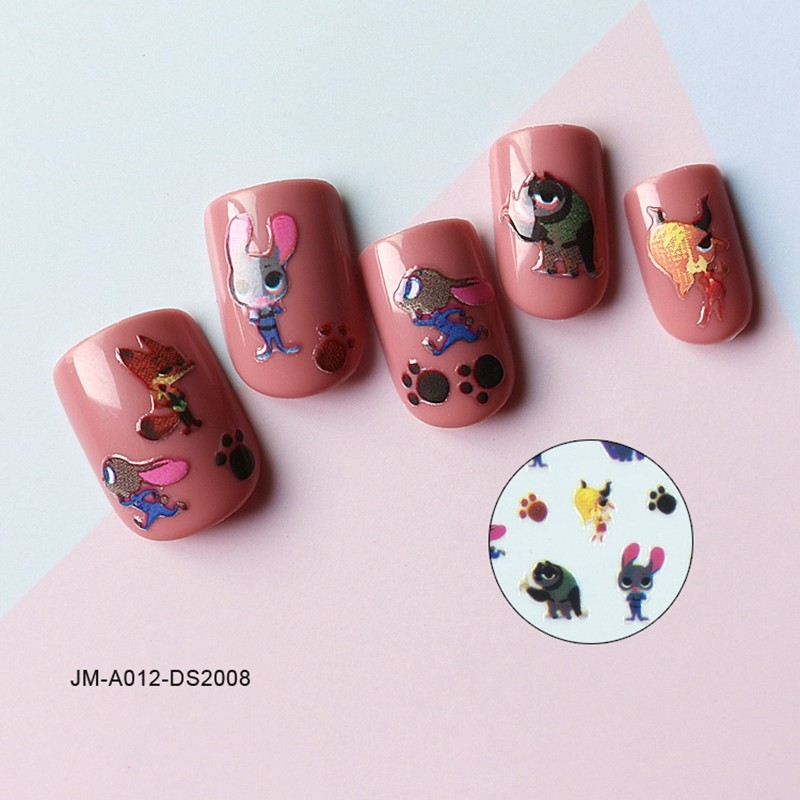 the love story of rabbit&fox nail sticker