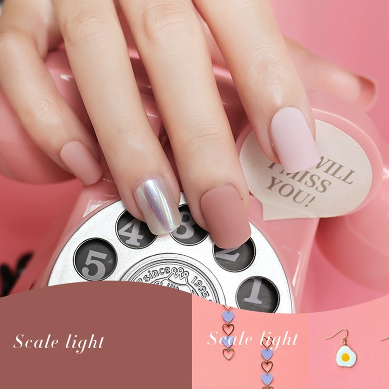 Velvet square scalet light fashion artificial nail
