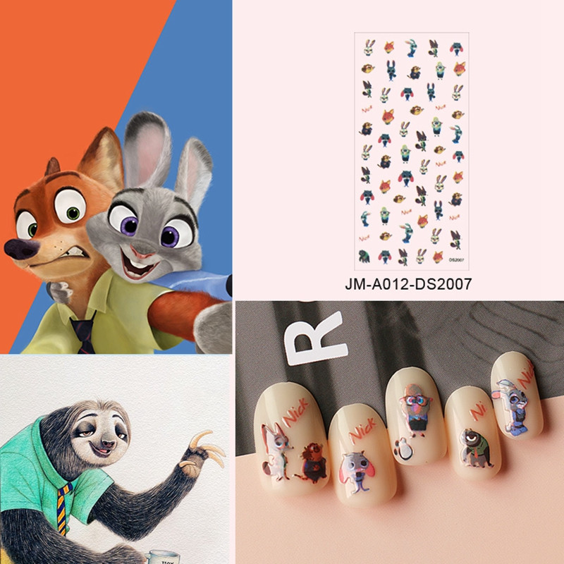 shinny designer nail stickers design for women