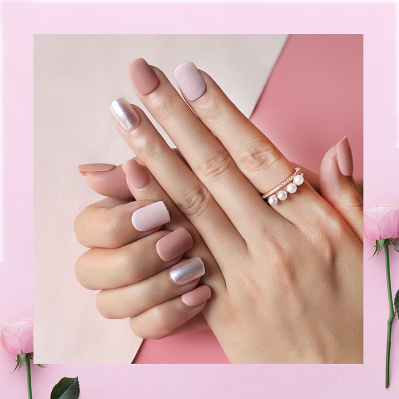 ab lee press on nails series for bride