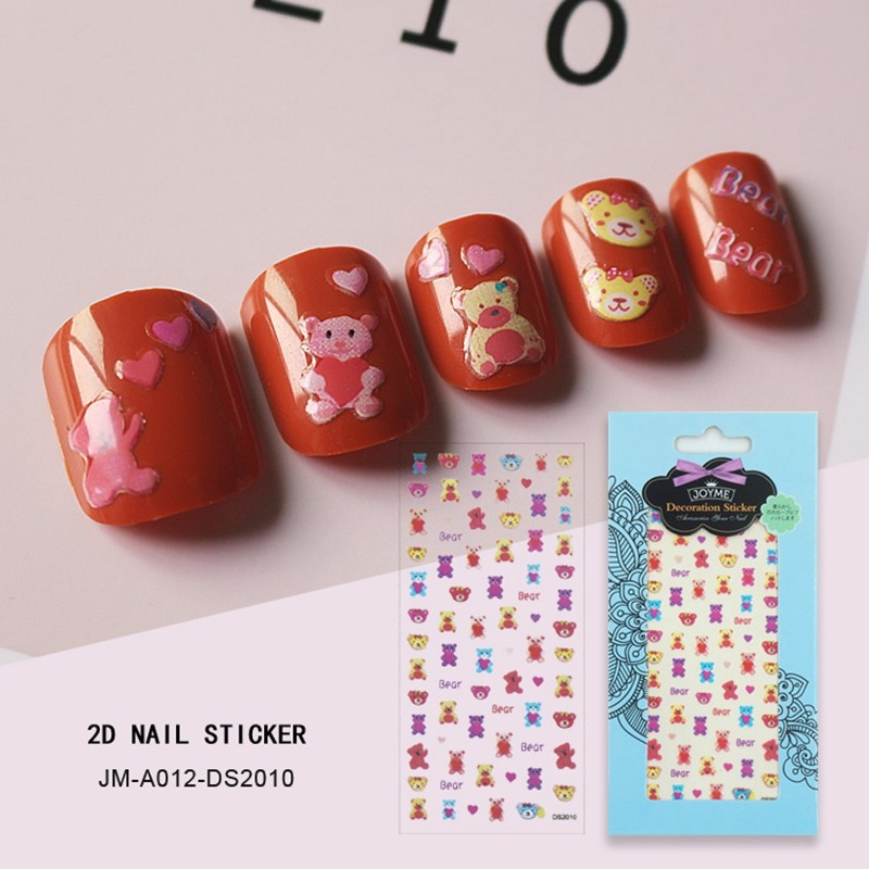 sweety bear nail sticker