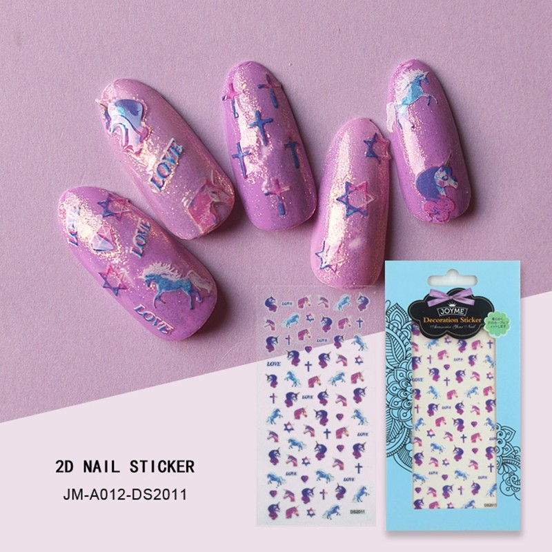 dream unicorn nail sticker
