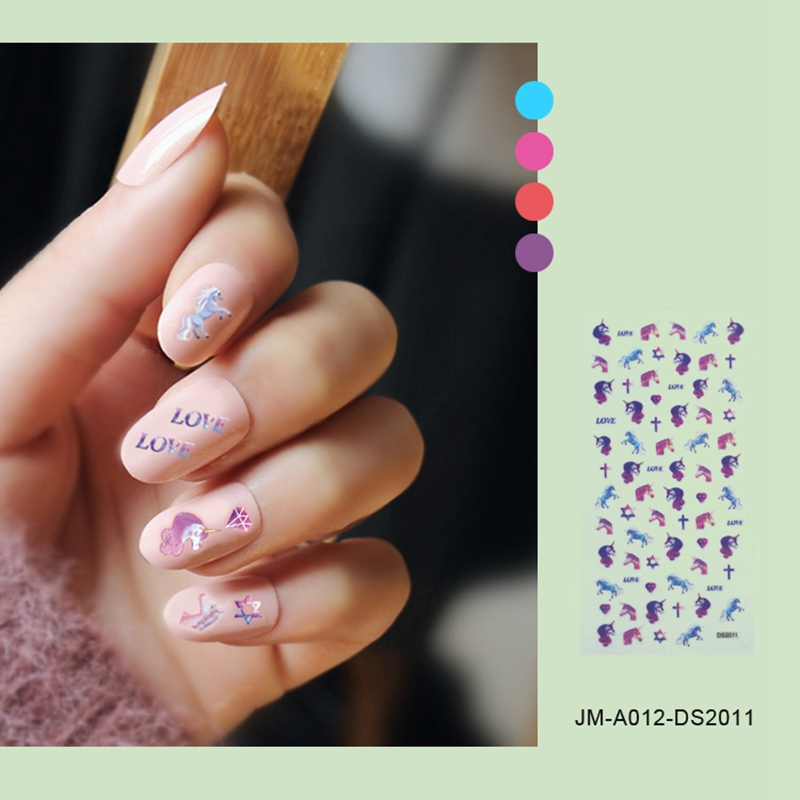 pink star nail stickers factory for ladies-4