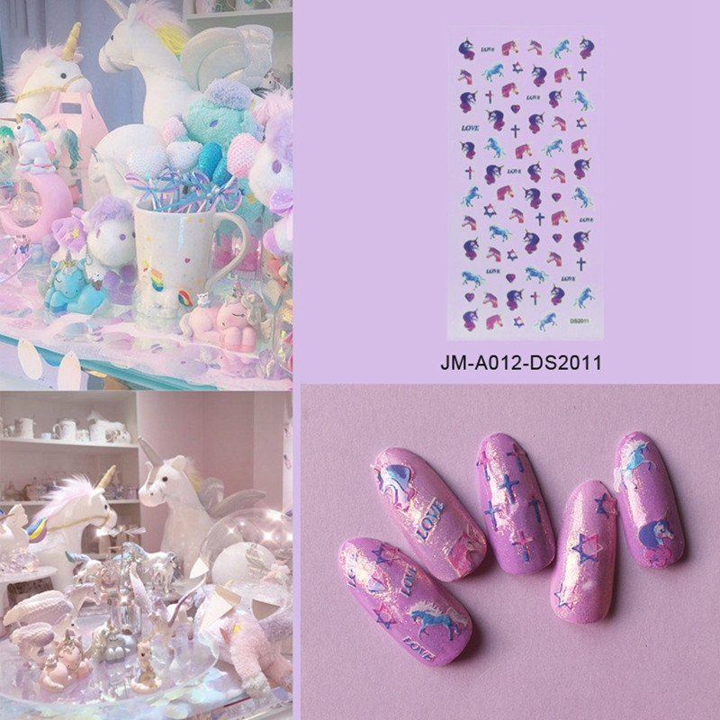 pink star nail stickers factory for ladies-5