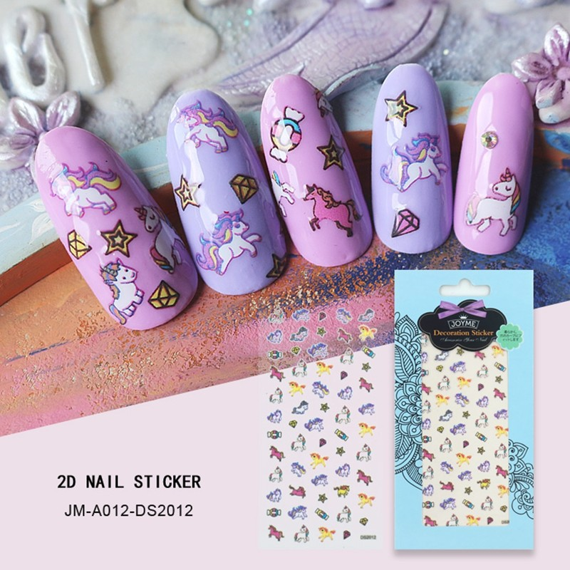 lovely unicorn nail sticker