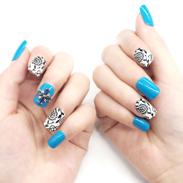 popular short artificial nails from China for girls-4