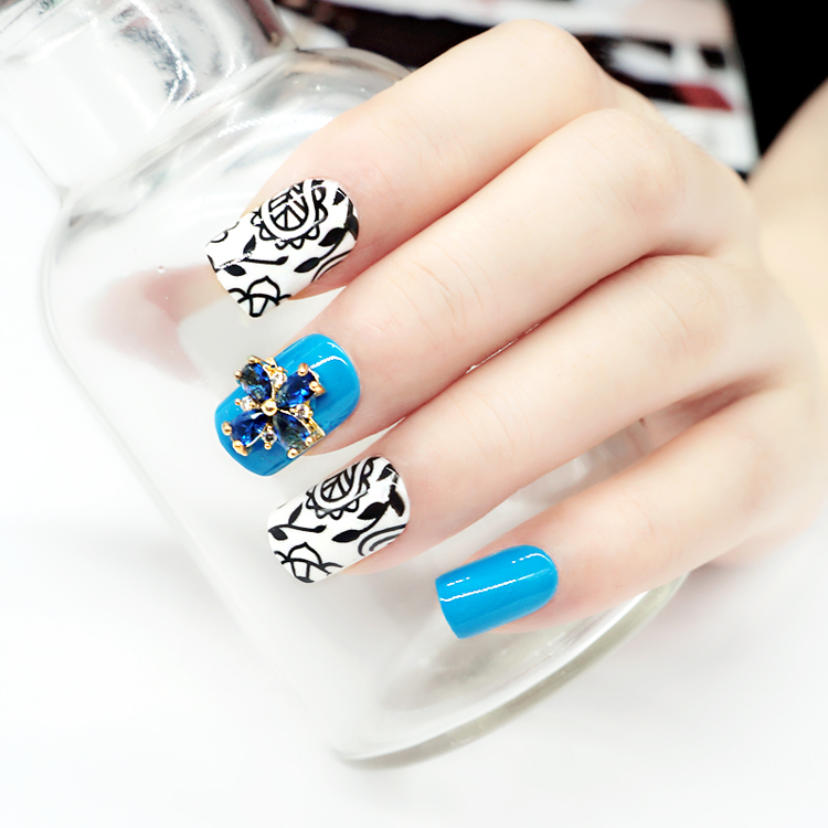 popular short artificial nails from China for girls-5
