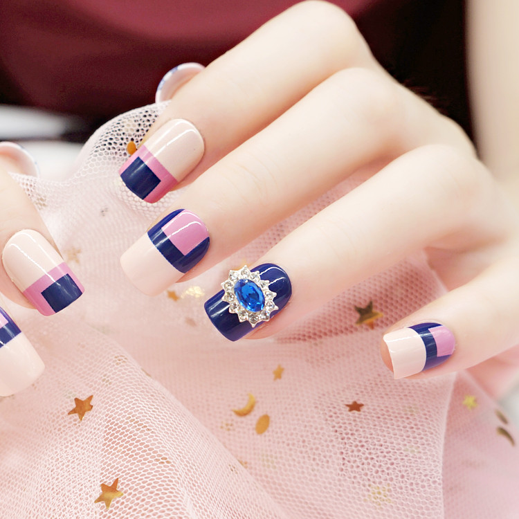 artifical etsy press on nails customized for bride-5