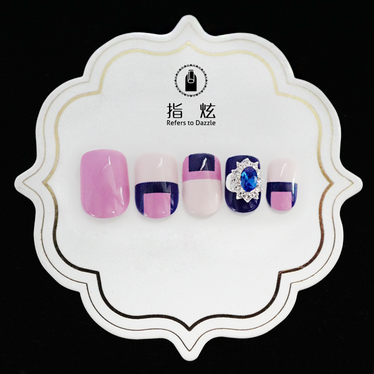 artifical etsy press on nails customized for bride-4