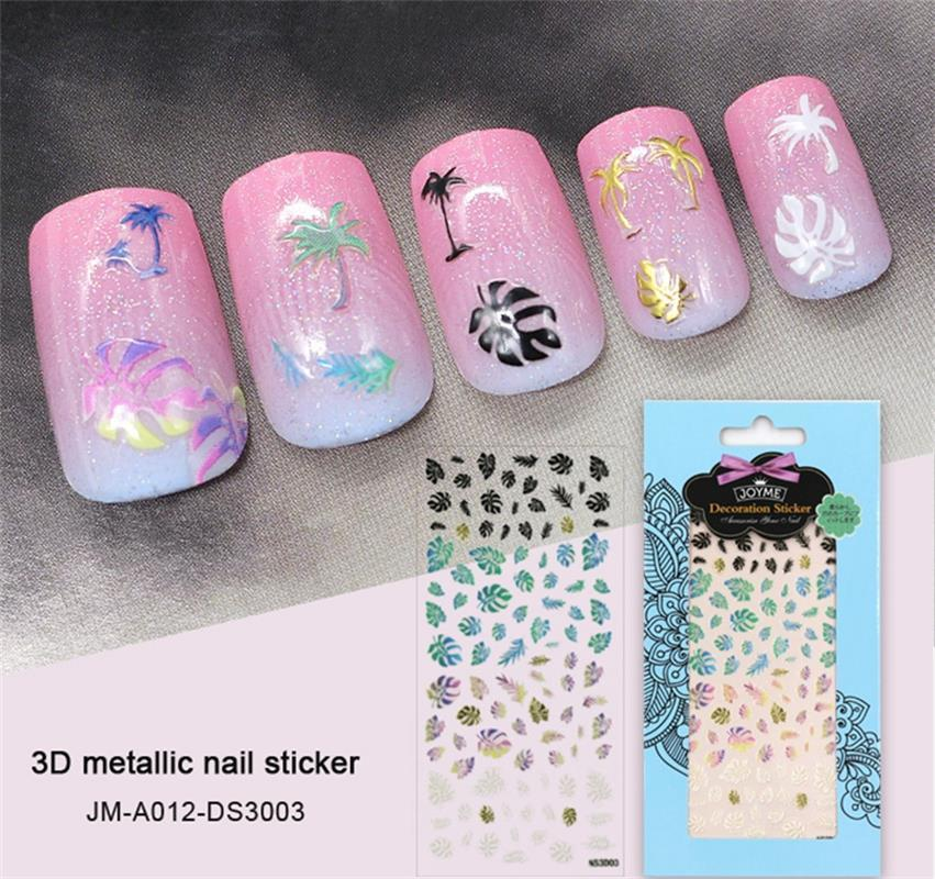 rainforest metallic 3d nail sticker