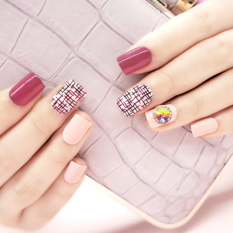 porcelain short fake nails customized for girls-5