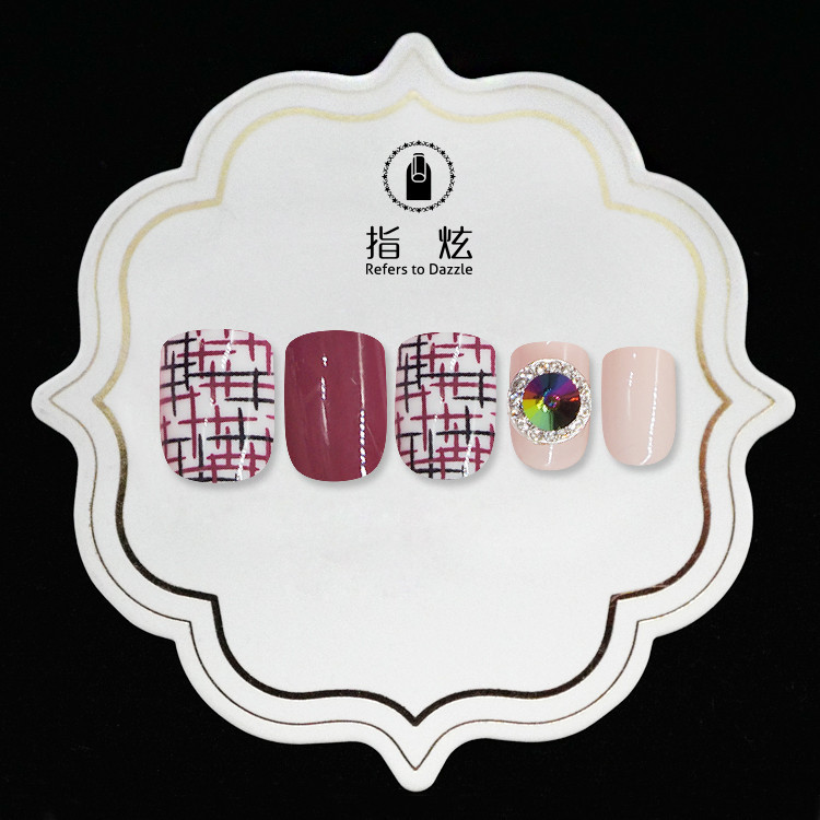 porcelain short fake nails customized for girls