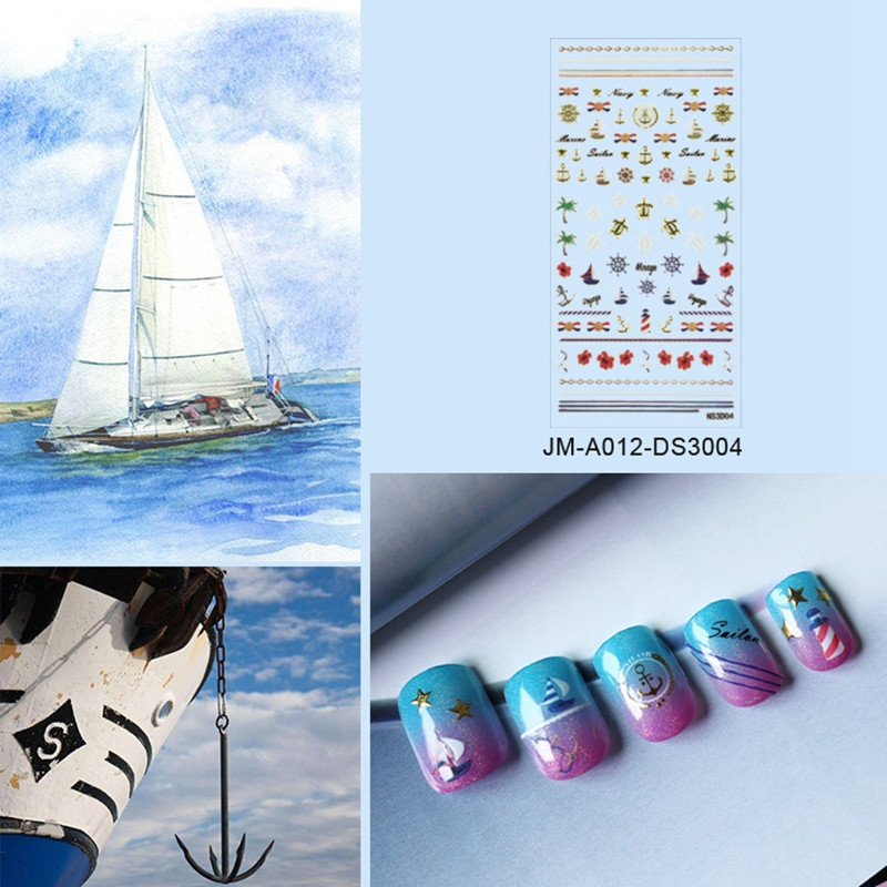 popular christmas nail art stickers with good price for girl-5