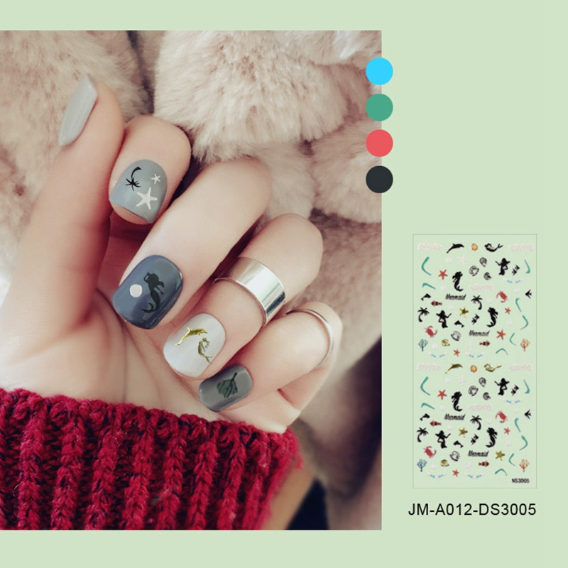 cute nail letter stickers with good price for commercial-5