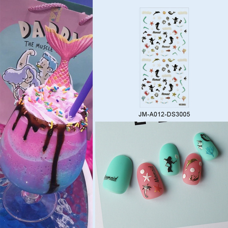 cute nail letter stickers with good price for commercial-4