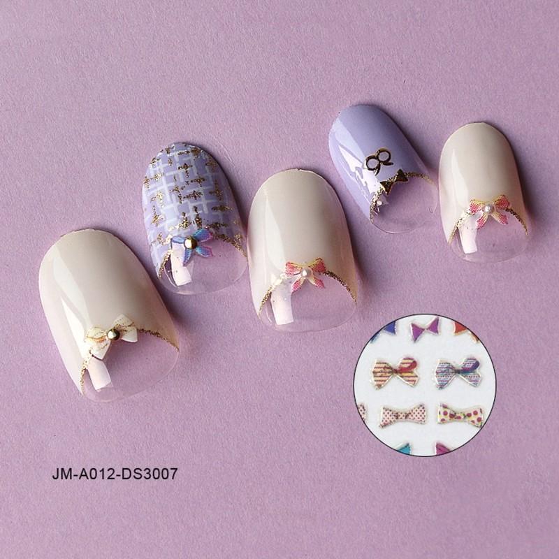 bowknot 3d nail sticker