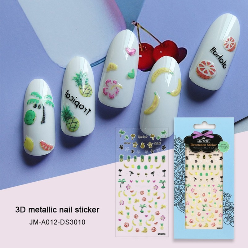 fruit style 3d nail sticker