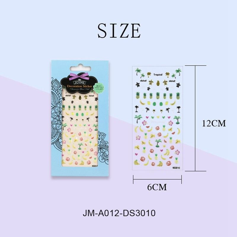 metallic christmas nail stickers factory for ladies