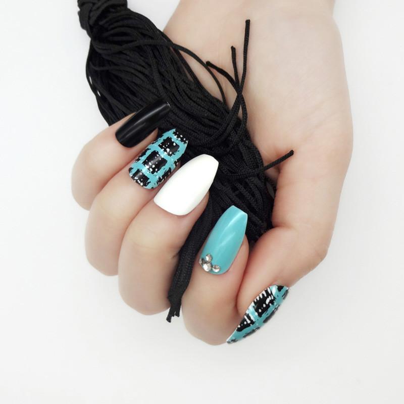Newair Fake Nails grey false nails short supplier for christmas