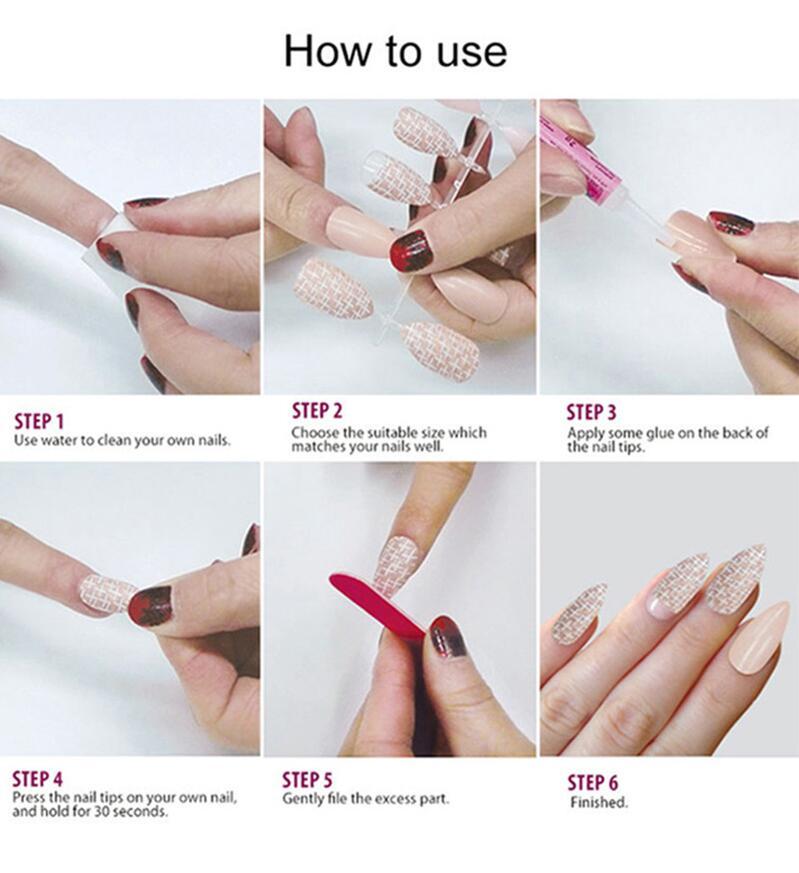 Newair Fake Nails grey false nails short supplier for christmas-5