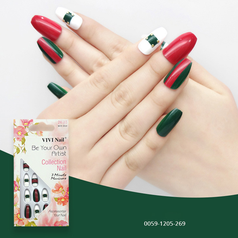 Popular christmas decoration artificial nail tips