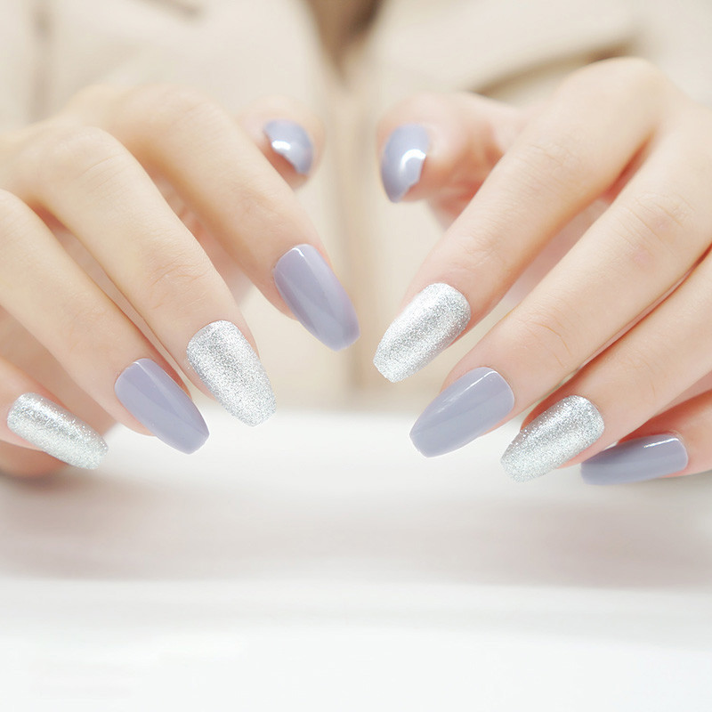 lovely false nails with design supplier for christmas