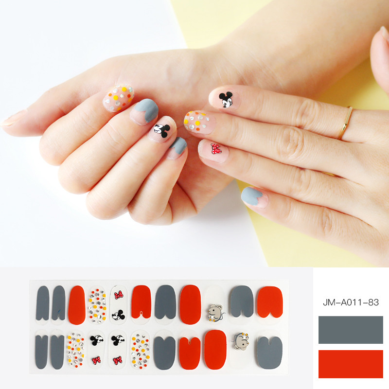 cute mouse design glossy nail strip
