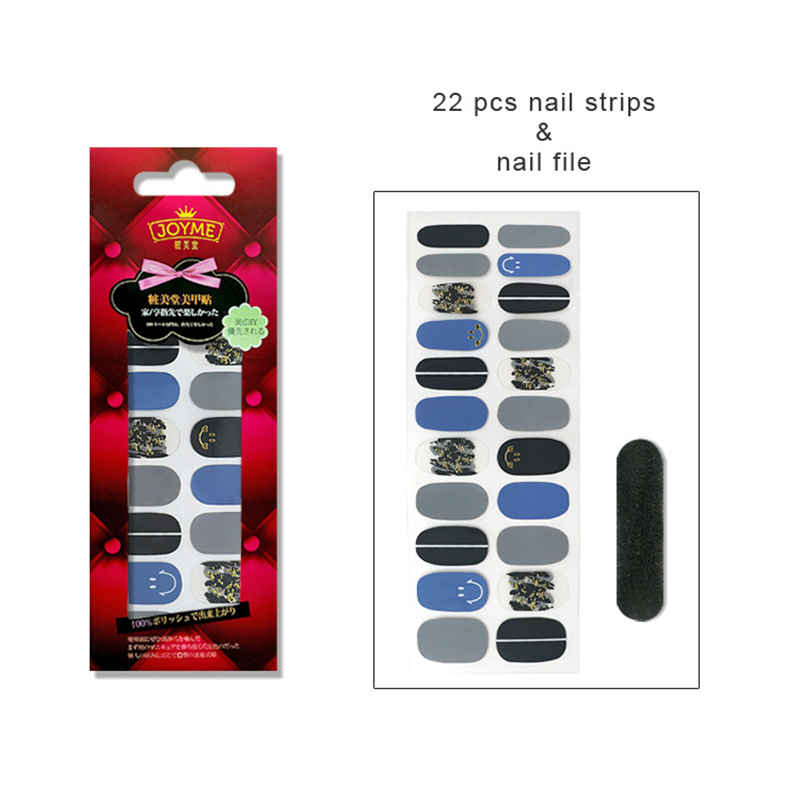 yellow stripper nails factory price for women-5