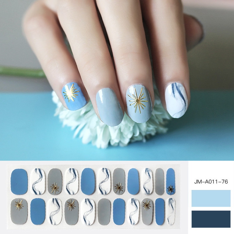 Glossy nail patch kit for women