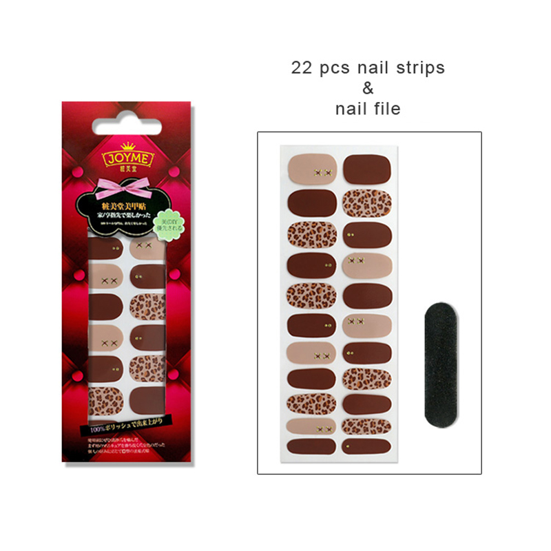 Newair Fake Nails purple incoco nail polish strips personalized for women-5
