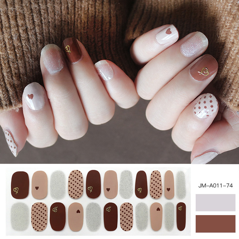 Cocoon sweet metallic nail strip with glitter