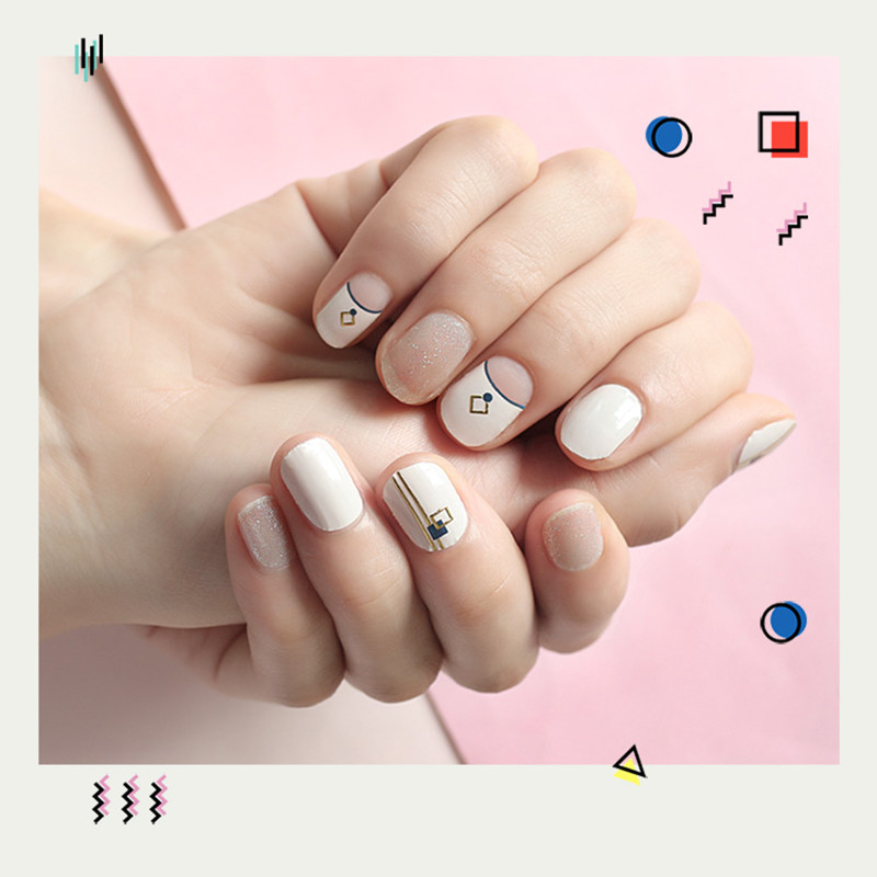 yellow nail art stripes designs supplier for gifts