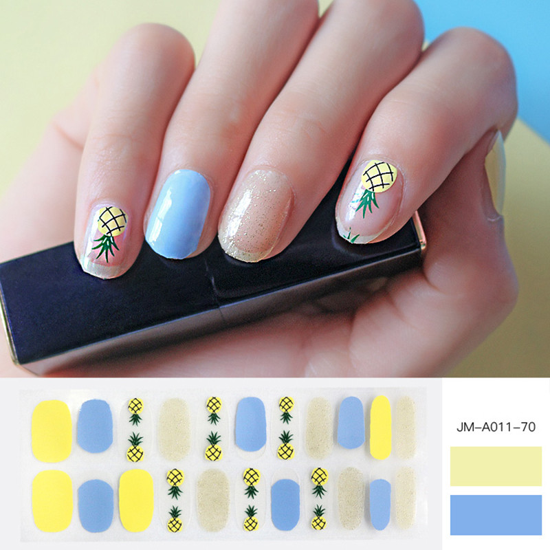 pineapple nail patch for summer