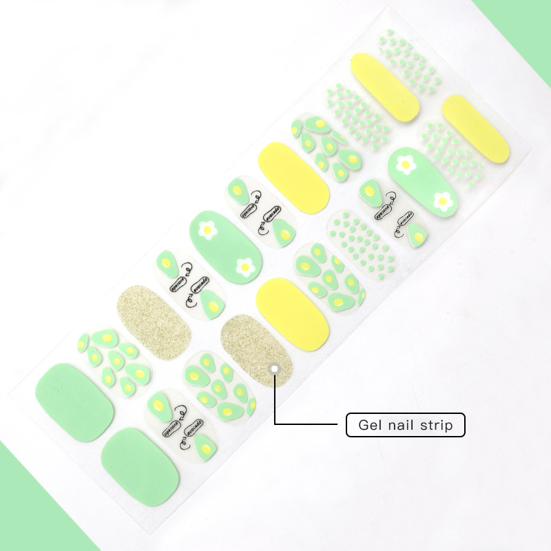 gray real nail polish strips supplier for women-4