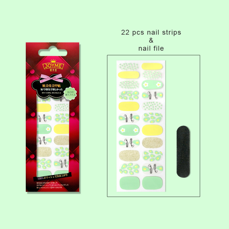 gray real nail polish strips supplier for women-5