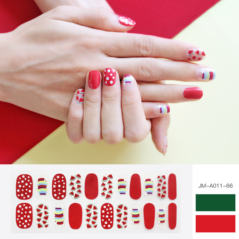 super shiny watermelon gel nail strip