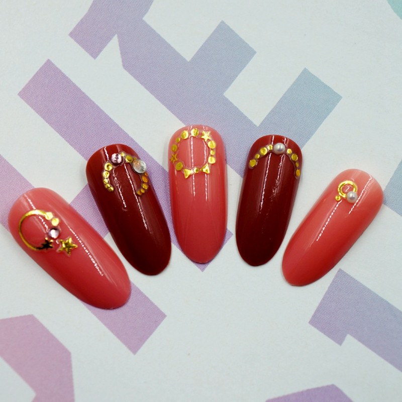 gel christmas nail art stickers with good price for women