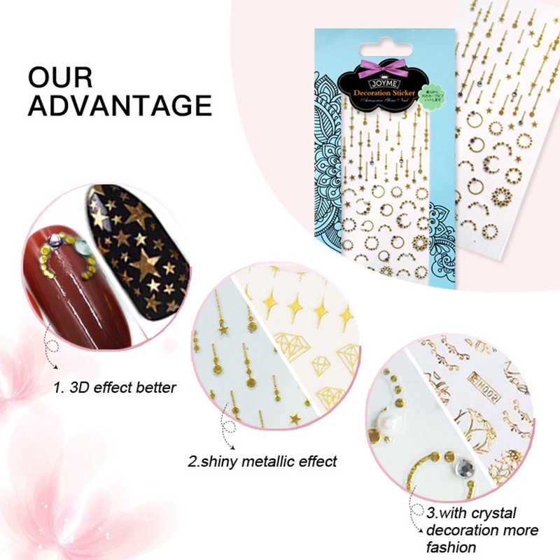 gel christmas nail art stickers with good price for women-4