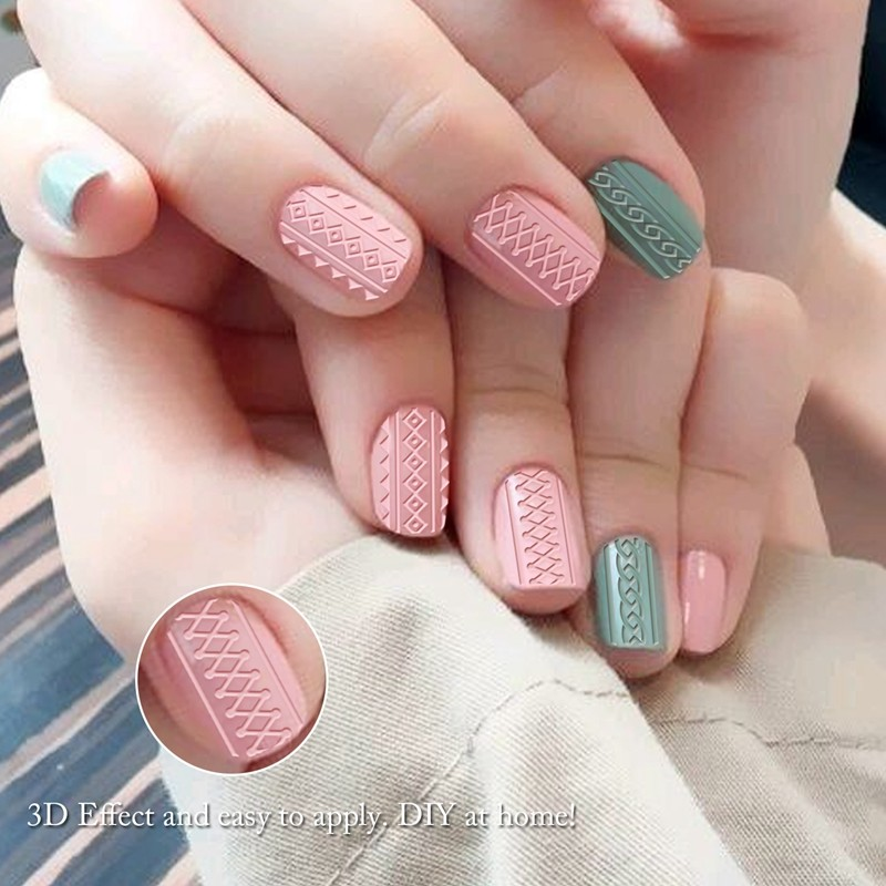 Fullcover Skin Friendly 3D Nail Art Stickers