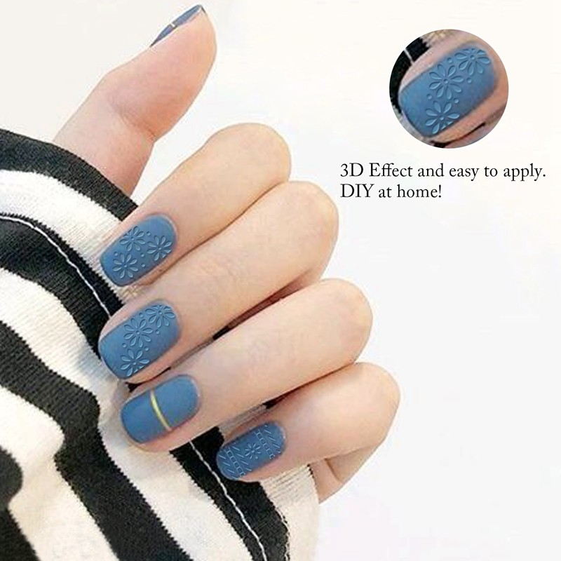 Fashion flower adhesive nail sticker 3d nail sticker