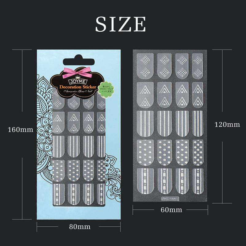 Newair Fake Nails metallic 3d nail stickers design for ladies-5